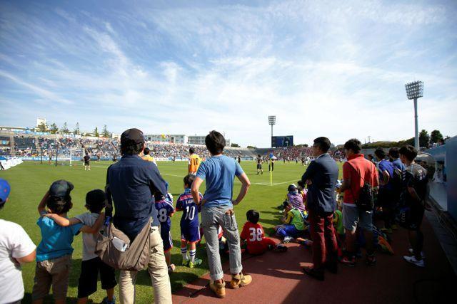 <横浜FC>サッカー生観戦スポコン@ニッパツ三ツ沢球技場