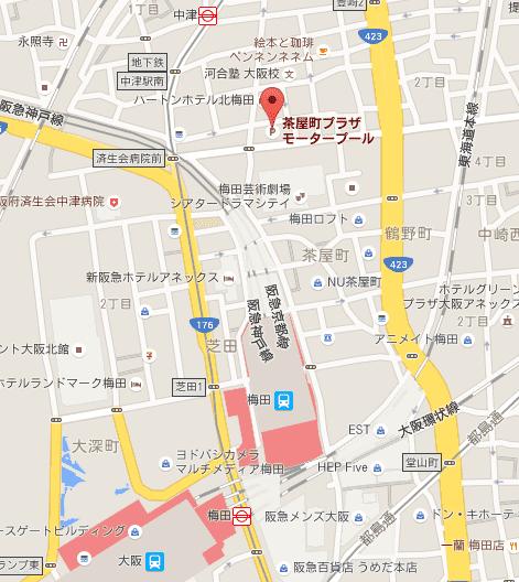 茶屋町プラザモータープール - Google マップ
